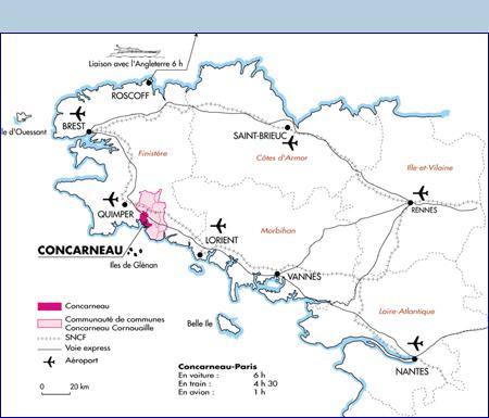 Carte Bretagne Concarneau.Venir A Concarneau Concarneau Ville D Art Et D Histoire